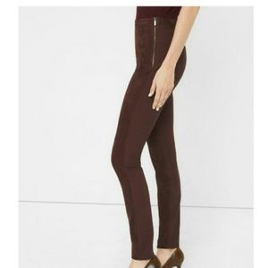 NWT WHBM Suede brown legging pants